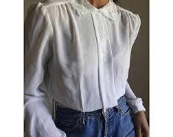 frilly blouse frilly blouse etsy