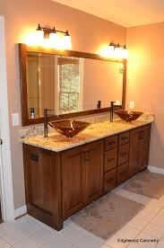 cherry bathroom vanity home ideas pinterest cherry bathroom small bathroom with cherry wood vanity also modern bathroom vanity