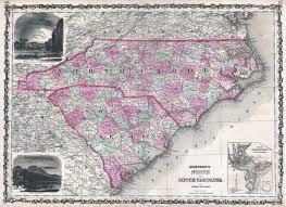 map of sc file 1862 johnson map of carolina and south carolina