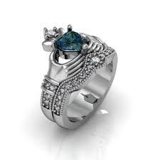 claddagh engagement ring london blue topaz claddagh engagement ring set