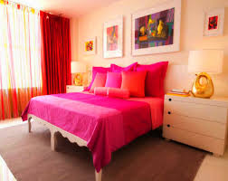 Red Curtains In Bedroom - bedroom marvelous girly room ideas with pink wall painted large