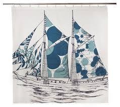 Sailboat Shower Curtains Ship Shower Curtain