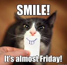 Smiling Cat Meme - smile it s almost friday smiling cat quickmeme