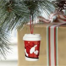 Starbucks Christmas Decorations Starbucks Lot 2 Mini Christmas Ornament Mugs Siren Logo Barrel