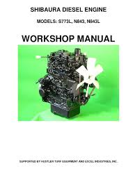 hustler shibaura s773l n843 n843l service manual 109823 0209