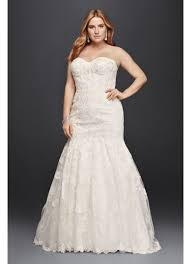 corset bodice mermaid lace plus size wedding dress david u0027s bridal