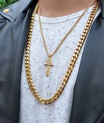 cuban chain necklace gold images The gold gods flat edge 30 quot cuban link necklace zumiez jpg
