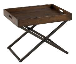 removable tray top table perera cocktail table distressed brown finish removable tray top