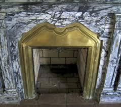 Sell Marble Fireplace Antique Marble Fireplace Surround Grey Black Brass Insert Black