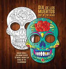 dia de los muertos sugar skulls masks coloring pages sugar skulls dia de los muertos skeleton