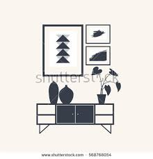 Home Interior Vector by Set Silhouettes Table Lamps On Light Stock Vector 567268135