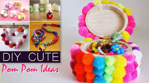 easy pom pom craft ideas youtube