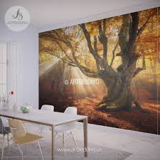 magical tree wall mural magical tree house in enchanted forest fantasy wall mural kids