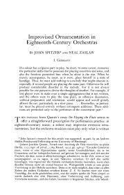 improvised ornamentation in eighteenth century orchestras