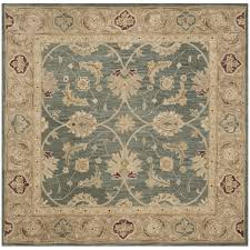 Square Wool Rug Safavieh Handmade Antiquity Teal Blue Taupe Wool Rug 6 U0027 X 6