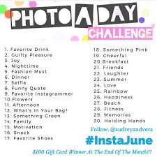 Challenge Instagram Photo A Day Challenge On Instagram Join In On The Instajune
