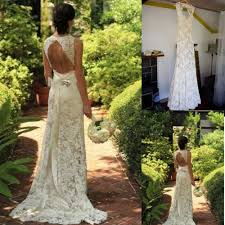vintage ivory wedding dress lace open back wedding dress vintage bridal gown white ivory size