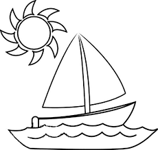 boats sun coloring pages kids lt printable boats