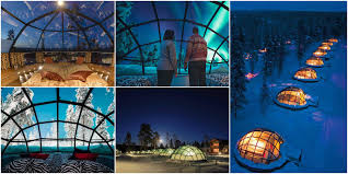 finland northern lights hotel igloos in finland unique hotels
