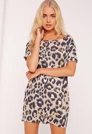 leopard print night t shirt missguided