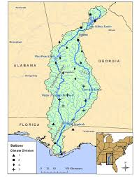 Georgia And Florida Map by Paper Acf River Basin Drought Large Scale Climate Oscillations