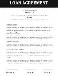 sample agreement contract for lending money best resumes