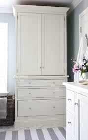 White Linen Cabinets For Bathroom Gorgeous Bathroom Linen Cabinet Transitional Design At White