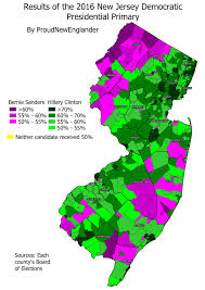 Map Of Essex County Nj Analysis And Maps Of The 2016 New Jersey Democratic Presidential