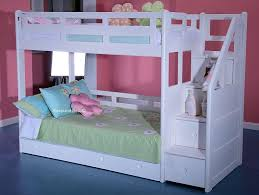 Wooden Bunk Bed With Futon Bedroom Excellent White Wooden Bunk Beds With Storage