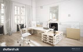 architectural loft office 3d stock illustration 288384236