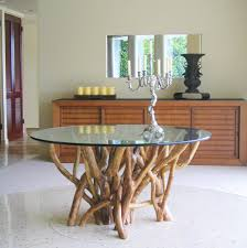 Tangle Tree Table Round  Inch Diameter  Inch Thick Glass - Awesome 60 inch round dining tables residence