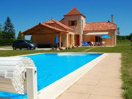 les crouzets recently built house with swimming pool large pet