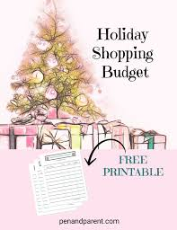 Christmas Tree Shopping Tips - how to holiday shop on a budget free printable