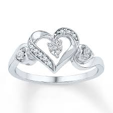 heart ring diamond heart ring 1 20 ct tw cut sterling silver