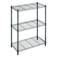 3 Shelf Wire Rack Adjustable Metal Shelving Rack Garage Kitchen Storage Unit 4 Tier