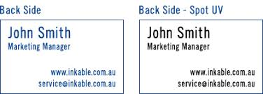 Embossed Business Cards Sydney Spot Uv Business Card Printing From Inkable Contact Us For A Quote
