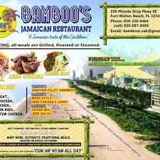 bamboo u0027s jamaican restaurant home fort walton beach florida