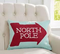 Christmas Pillows Pottery Barn North Pole Crewl Pillow Pottery Barn