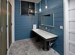 Painted Shiplap Walls Tribeca Loft Industrial Bathroom New York By Threshold