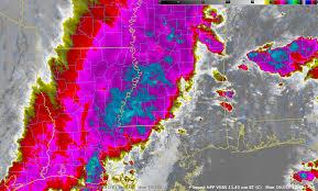 Lightning Strike Map Severe Weather Outbreak Across The Deep South Cimss Satellite Blog