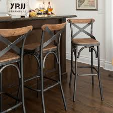 Bar Stool With Backrest Metal Iron Source Wrought Iron Bar Chairs Outdoor Bar Chairs