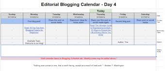 editorial blogging calendar and schedule free template