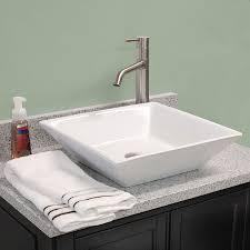 Shallow Bathroom Vanities Fontaine Shallow Square Porcelain Bathroom Vessel Sink Shallow