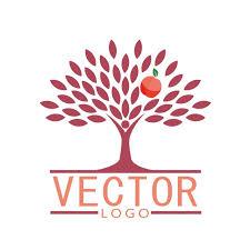 apple tree logo design vector free