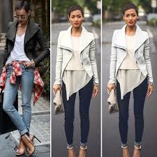 fall motorcycle jacket women biker motorcycle jackets pu leather jacket shawl collar coat