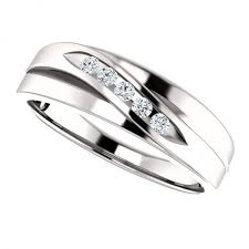 men diamond wedding bands mens channel set diamond wedding band in 14k white gold mens