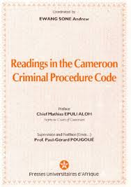 extrait readings in the cameroon criminal procedure code by