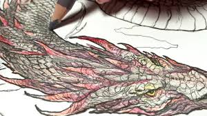 learn to color by watching me color game of thrones dragon no 2 a