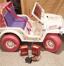 barbie jeep 2000 power wheels 1996 barbie beach patrol jeep ebth