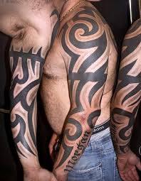 transcend gallery tattoos part arm sleeve tribal arm